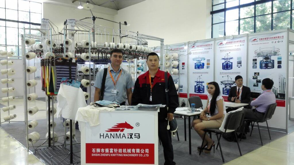 2015 HANMA CIRCULAR KNITTING MACHINE IN Uzbekistan EXHIBITION 01