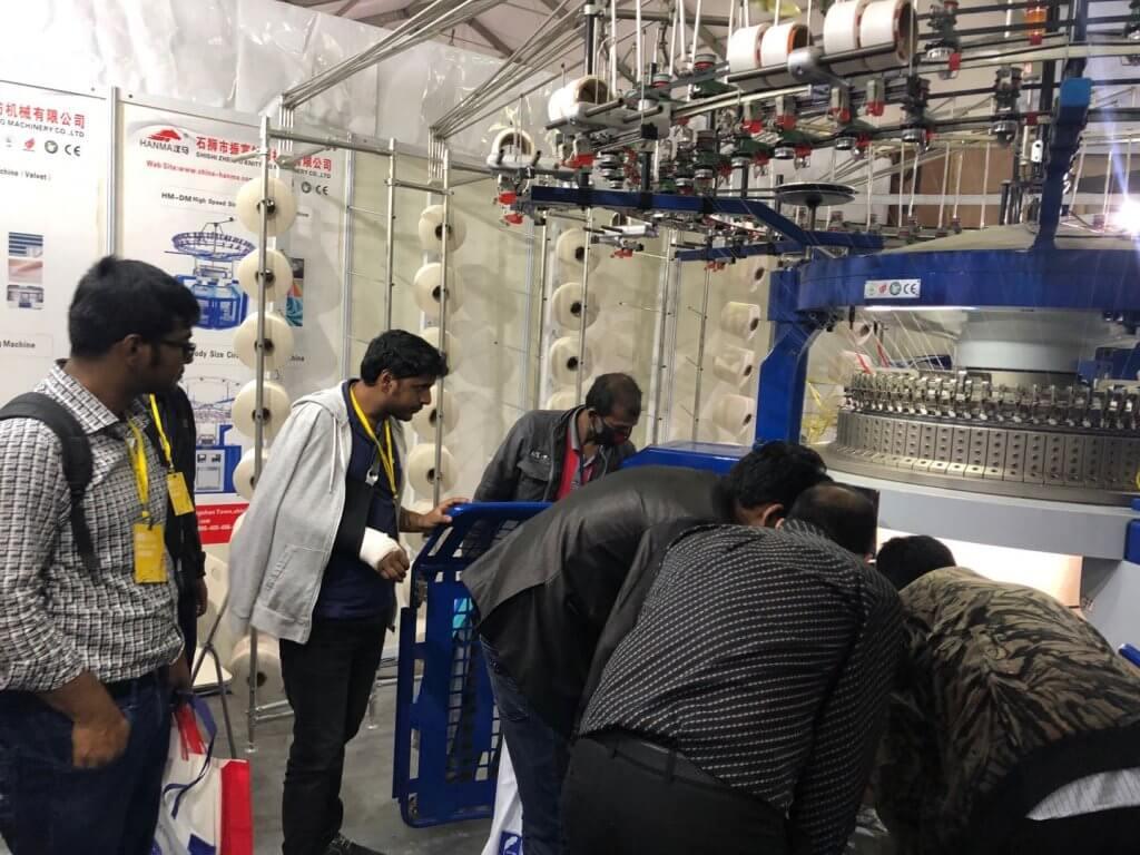 HANMA CIRCULAR KNITTING MACHINE IN Bangladesh EXHIBITION 2019 02