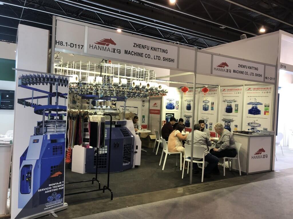 2019 HANMA CIRCULAR KNITTING MACHINE IN Spain EXHIBITION 04