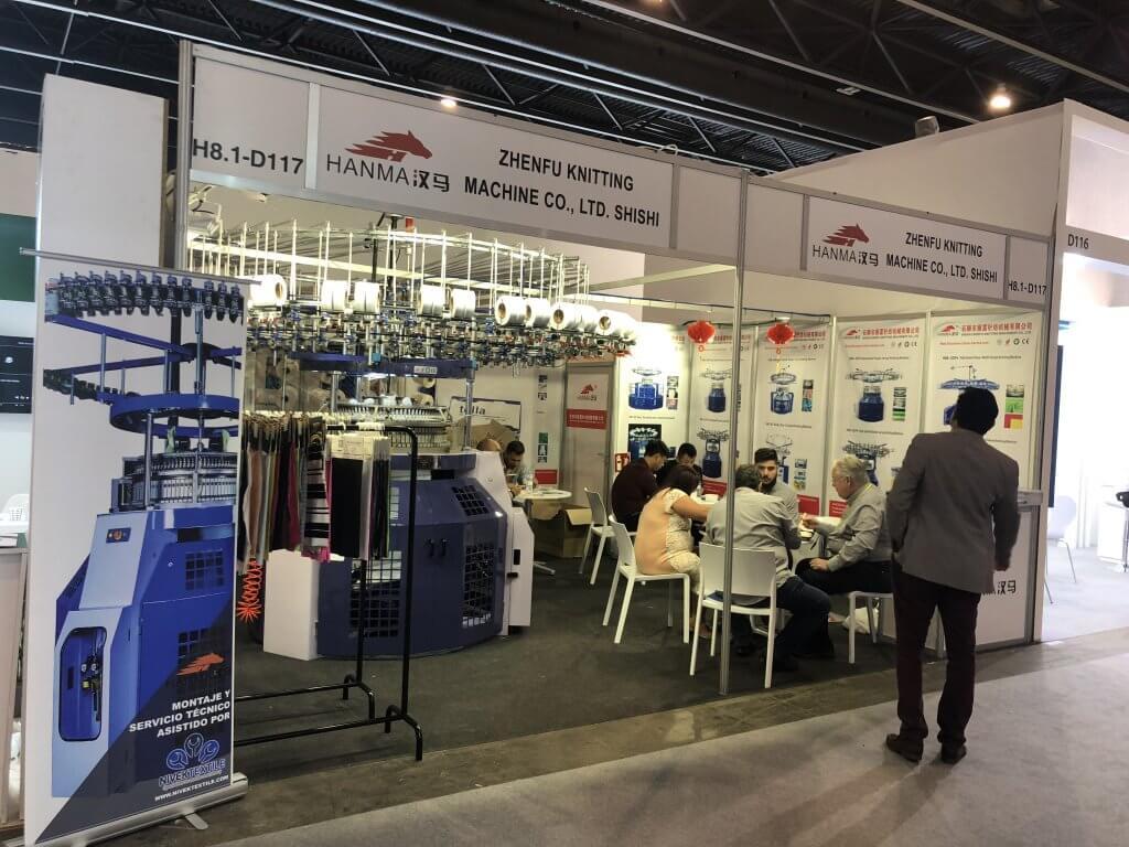 2019 HANMA CIRCULAR KNITTING MACHINE IN Spain EXHIBITION 03