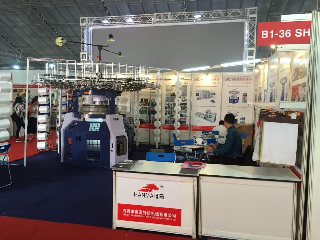 HANMA CIRCULAR KNITTING MACHINE IN Vietnam EXHIBITION 2016 06