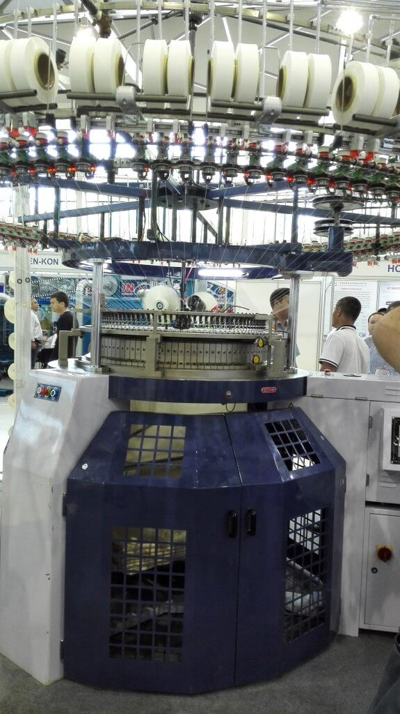 2015 HANMA CIRCULAR KNITTING MACHINE IN Uzbekistan EXHIBITION 08