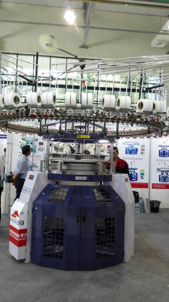 2015 HANMA CIRCULAR KNITTING MACHINE IN Uzbekistan EXHIBITION 06