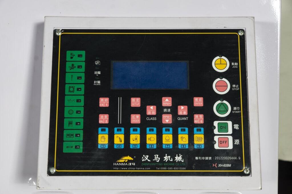 Hanma High Leg Double Jersey circular knitting machine controllor panel